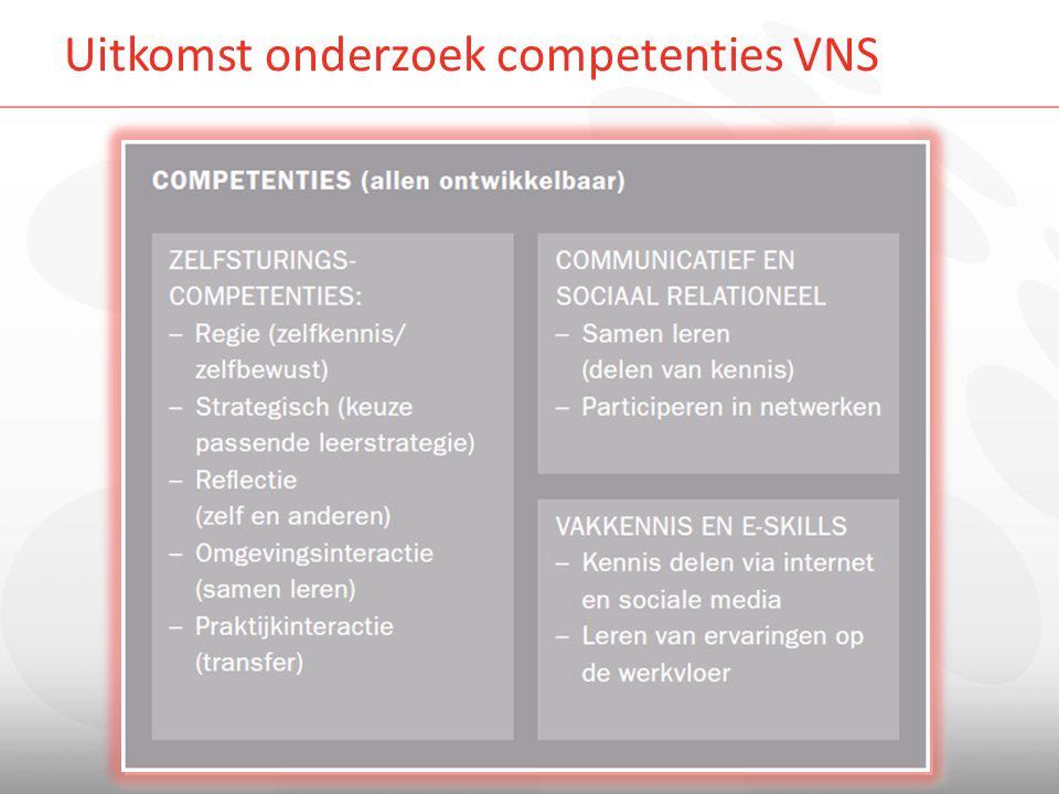 Uitkomst onderzoek competenties VNS