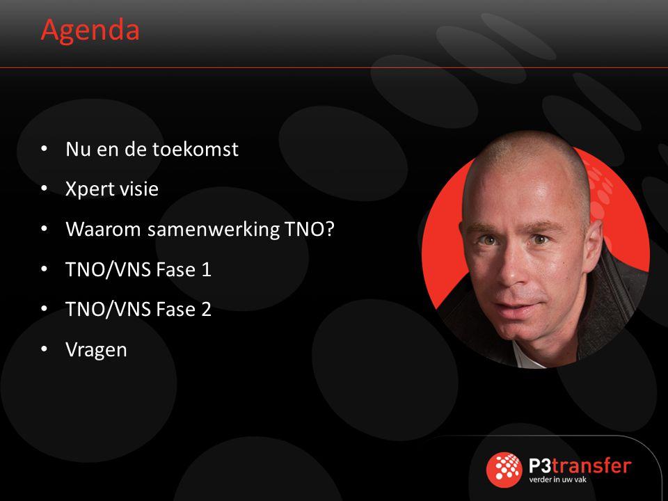 Agenda Nu en de toekomst Xpert visie Waarom samenwerking TNO