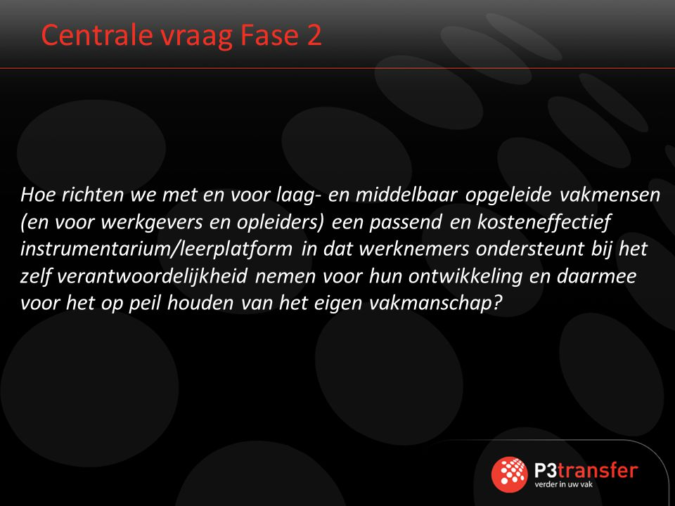 Centrale vraag Fase 2