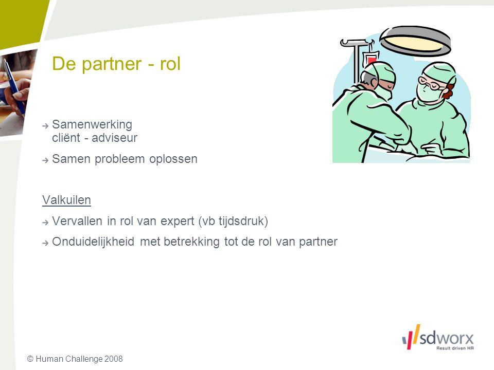 De partner - rol Samenwerking cliënt - adviseur