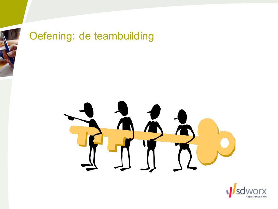 Oefening: de teambuilding
