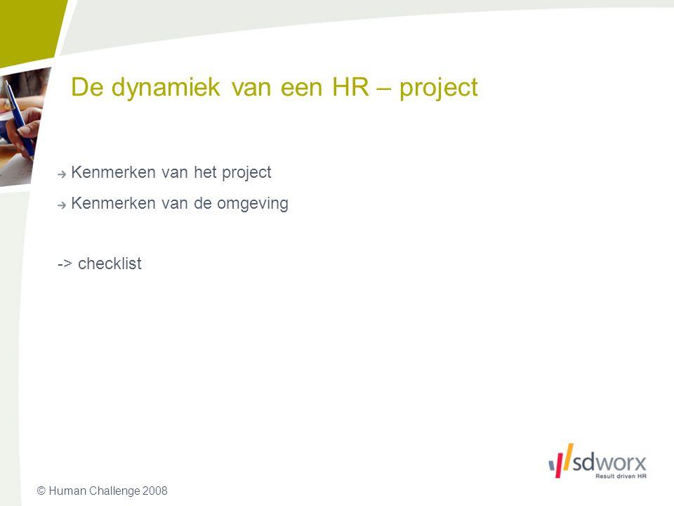 De dynamiek van een HR – project