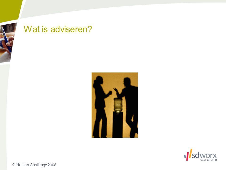 Wat is adviseren