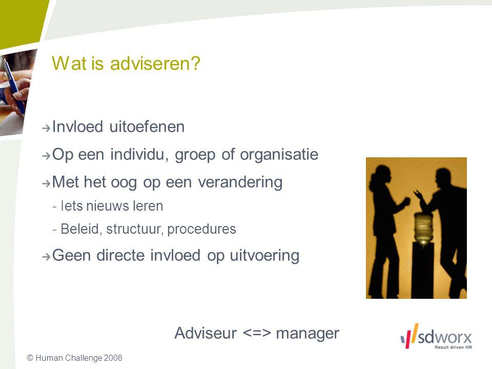 Adviseur <=> manager