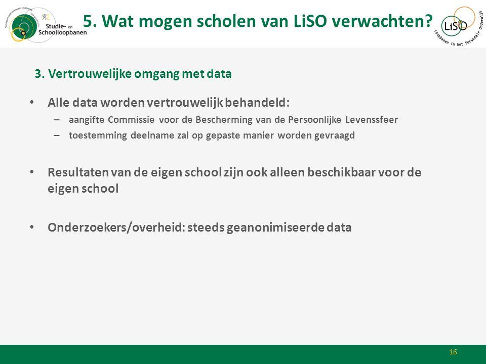 5. Wat mogen scholen van LiSO verwachten