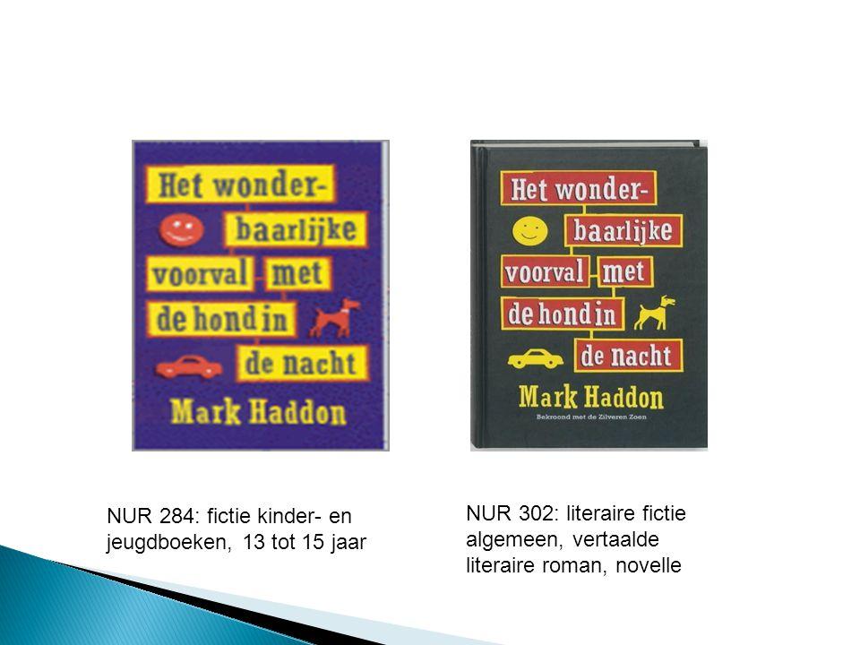 NUR 284: fictie kinder- en jeugdboeken, 13 tot 15 jaar