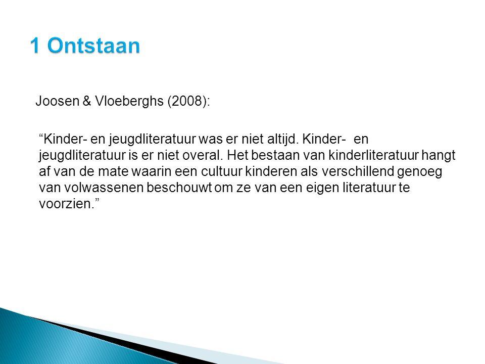 1 Ontstaan Joosen & Vloeberghs (2008):