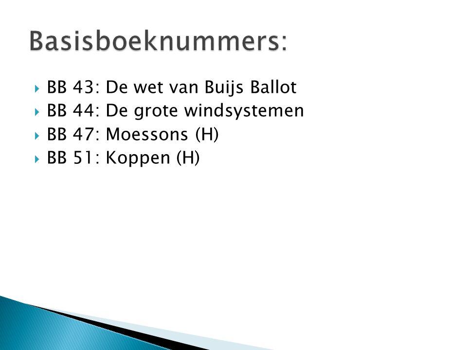 Basisboeknummers: BB 43: De wet van Buijs Ballot
