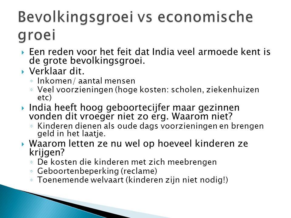 Bevolkingsgroei vs economische groei