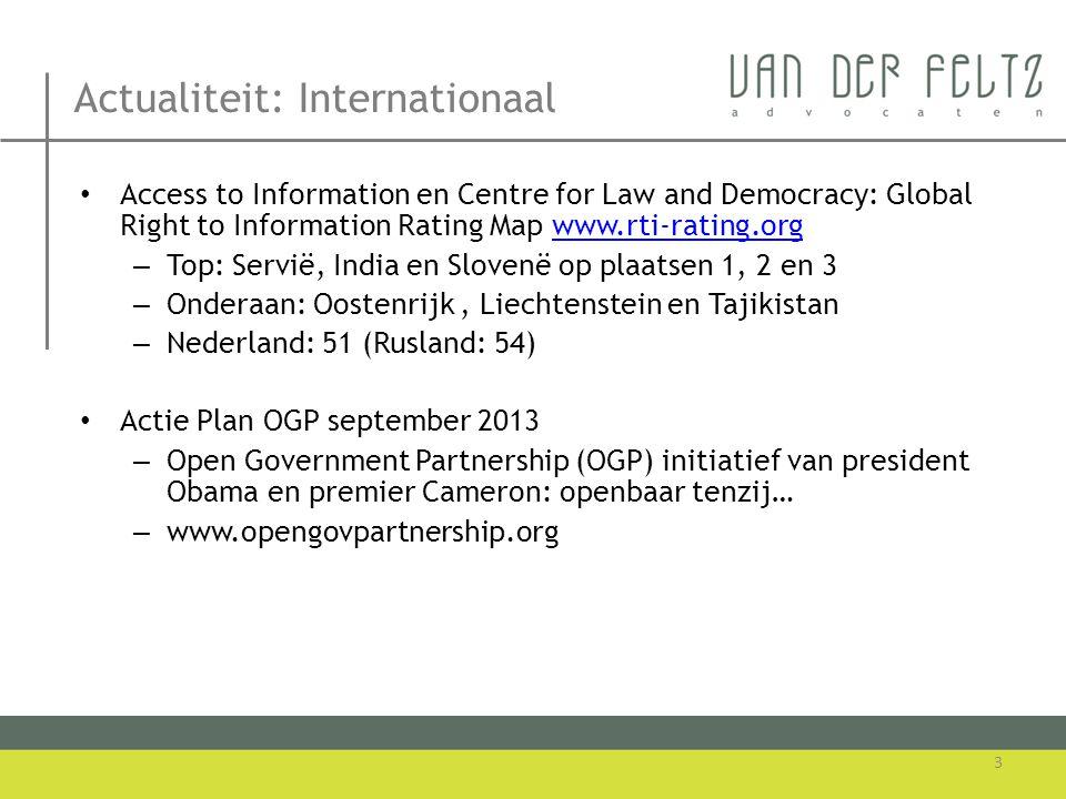 Actualiteit: Internationaal