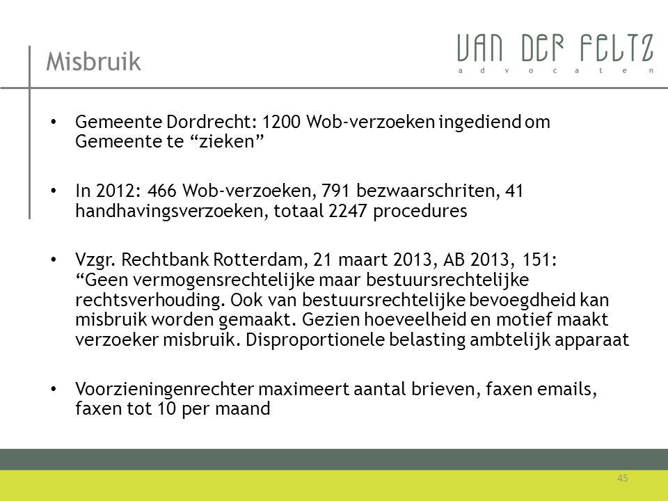 Misbruik Gemeente Dordrecht: 1200 Wob-verzoeken ingediend om Gemeente te zieken
