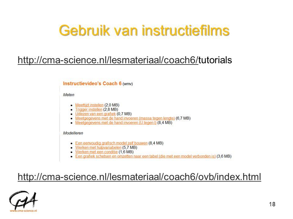 Gebruik van instructiefilms