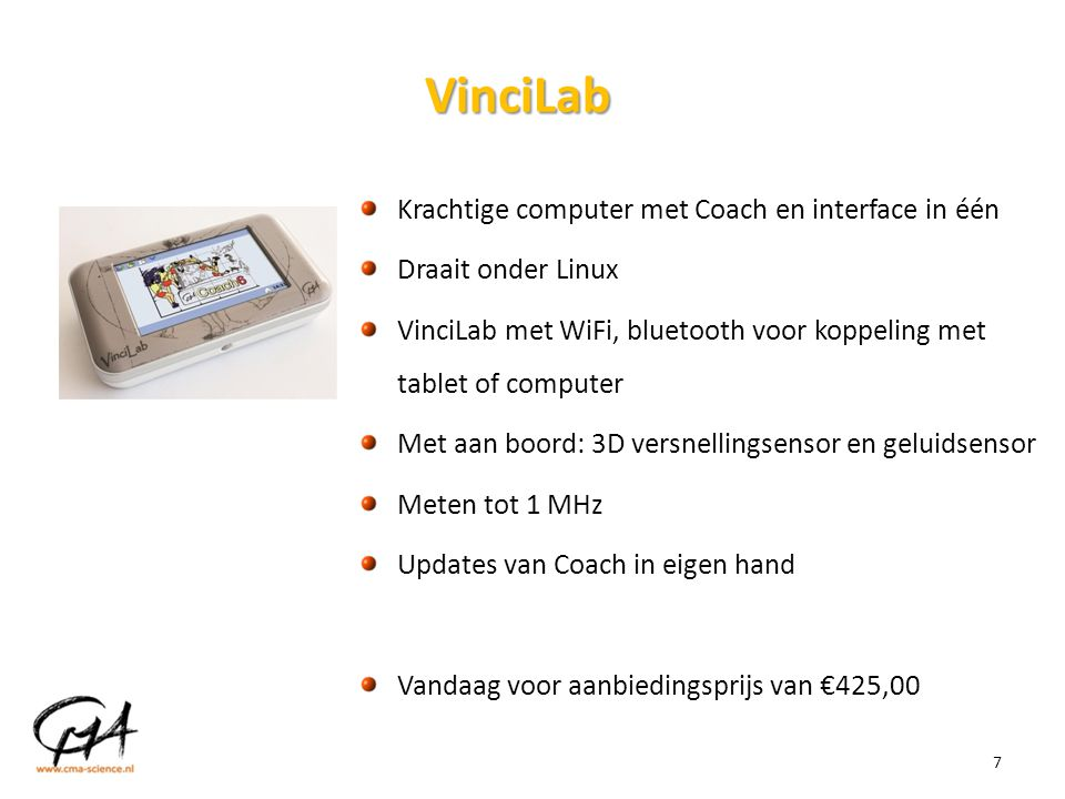 VinciLab Krachtige computer met Coach en interface in één