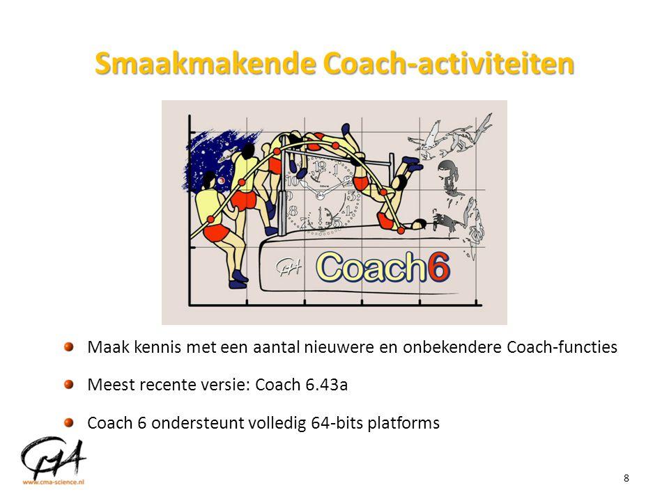 Smaakmakende Coach-activiteiten