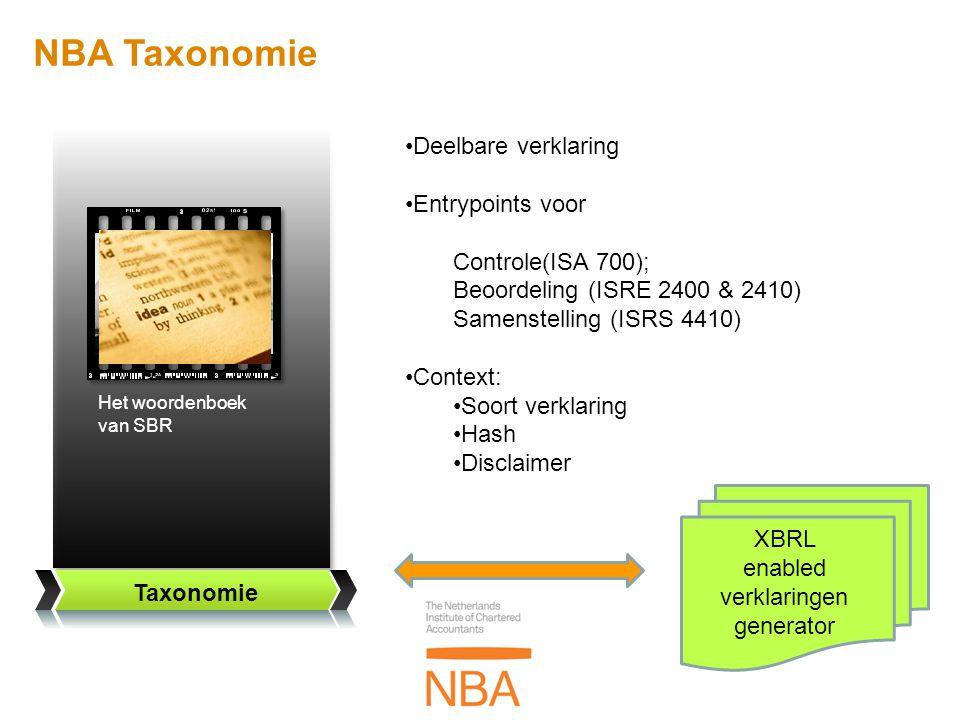 XBRL enabled verklaringen generator
