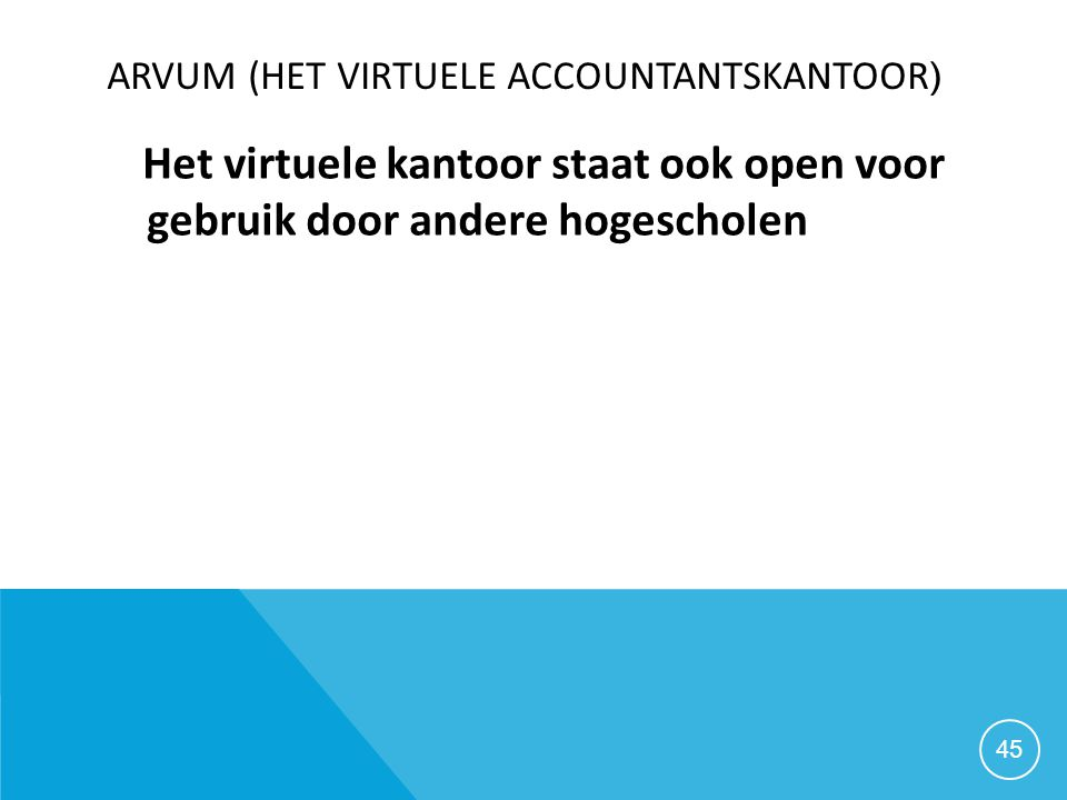 Arvum (het virtuele accountantskantoor)