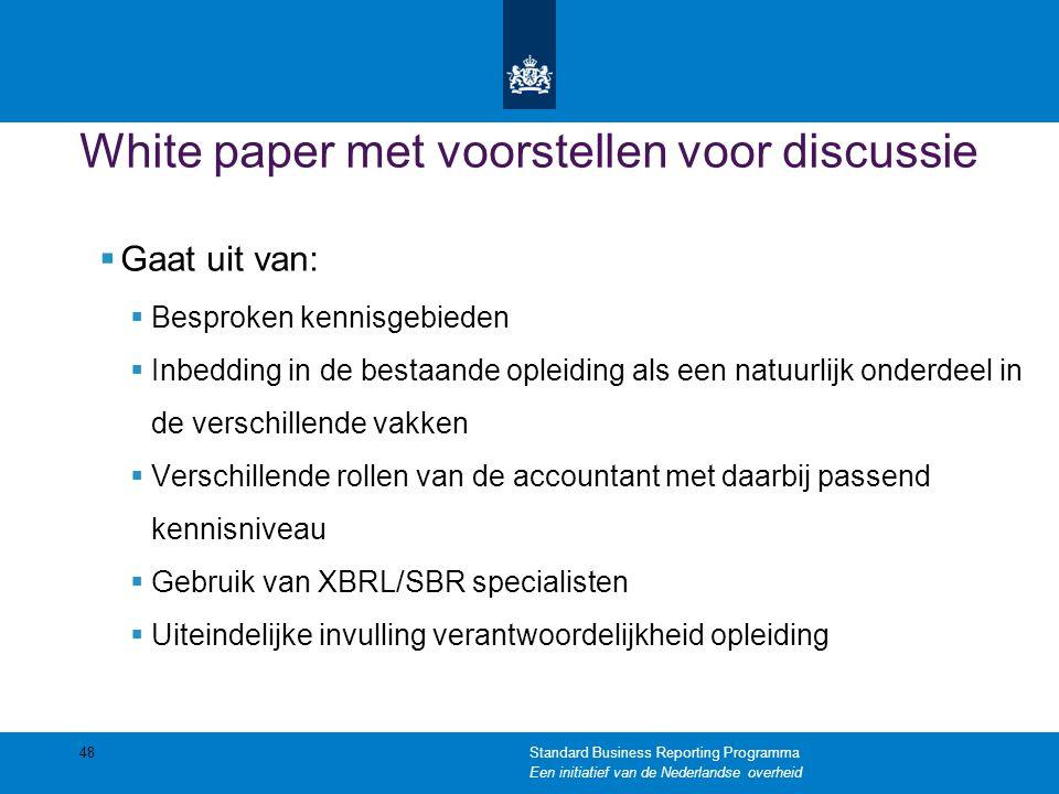 White paper met voorstellen voor discussie