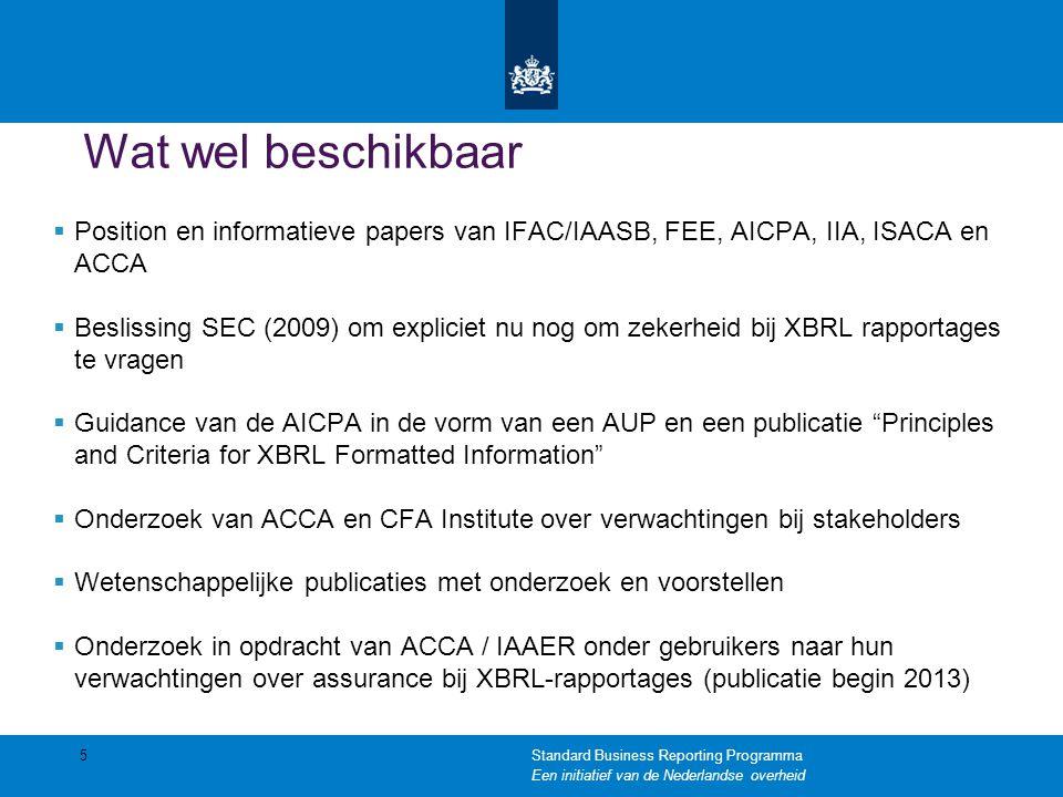 Wat wel beschikbaar Position en informatieve papers van IFAC/IAASB, FEE, AICPA, IIA, ISACA en ACCA.