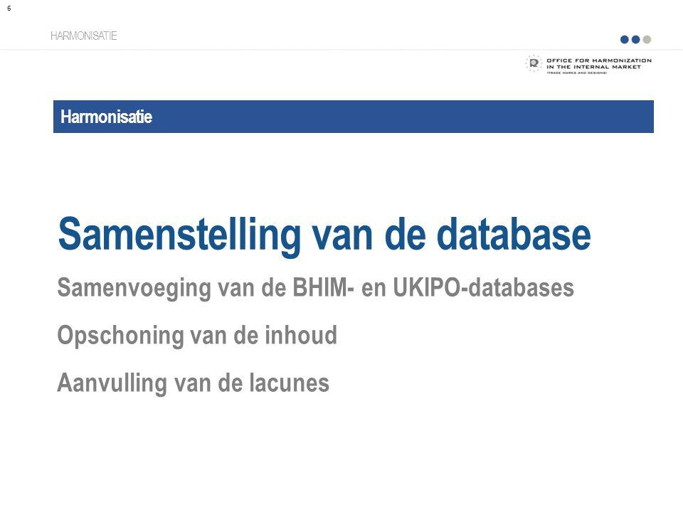 Samenstelling van de database