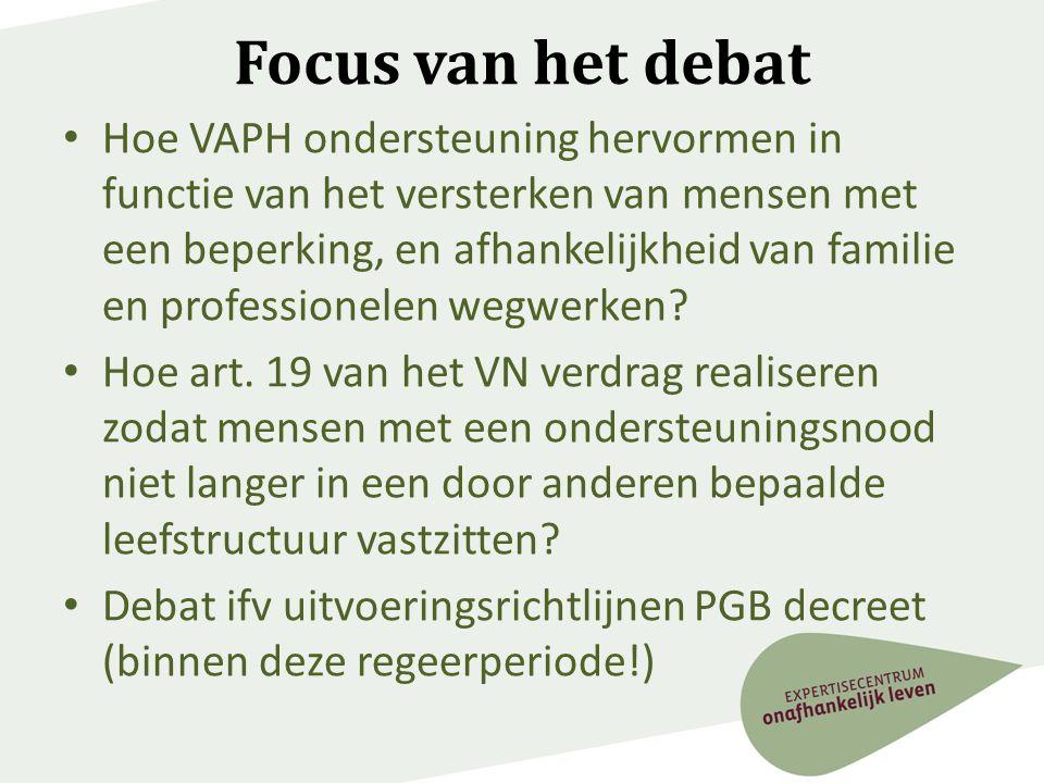 Focus van het debat