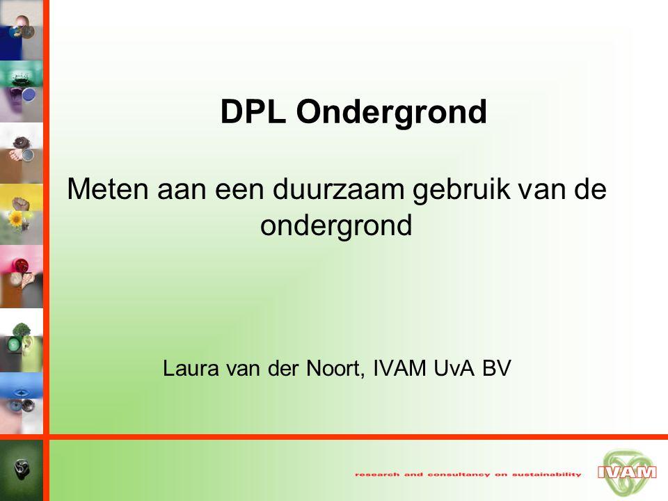 DPL Ondergrond Meten aan een duurzaam gebruik van de ondergrond