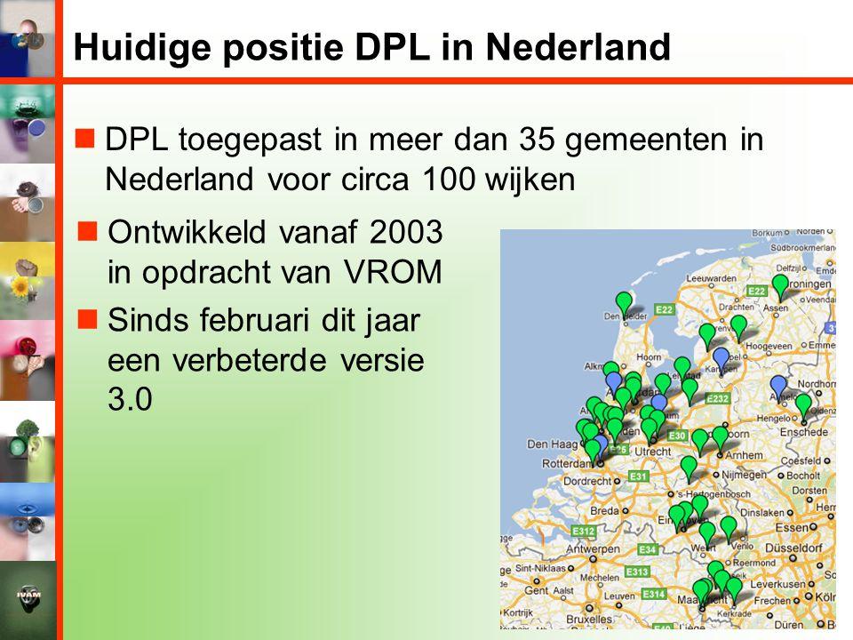 Huidige positie DPL in Nederland