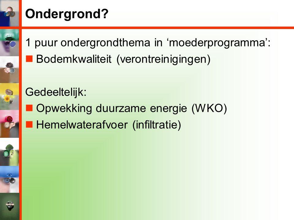 Ondergrond 1 puur ondergrondthema in 'moederprogramma':