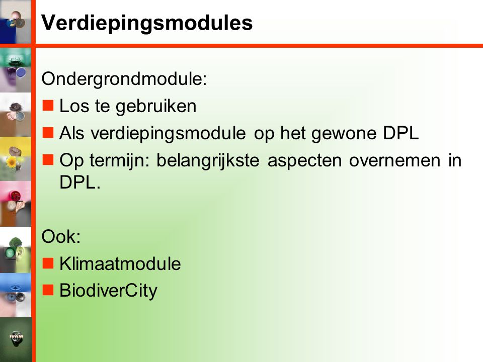 Verdiepingsmodules Ondergrondmodule: Los te gebruiken