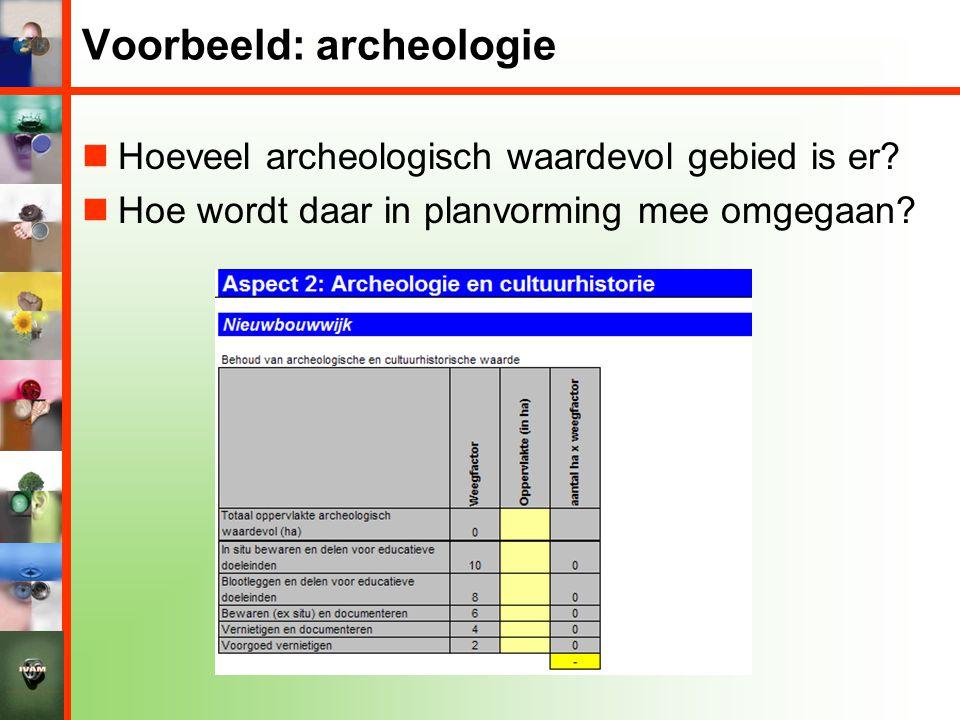 Voorbeeld: archeologie