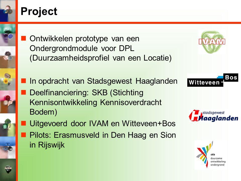 Project Ontwikkelen prototype van een Ondergrondmodule voor DPL (Duurzaamheidsprofiel van een Locatie)