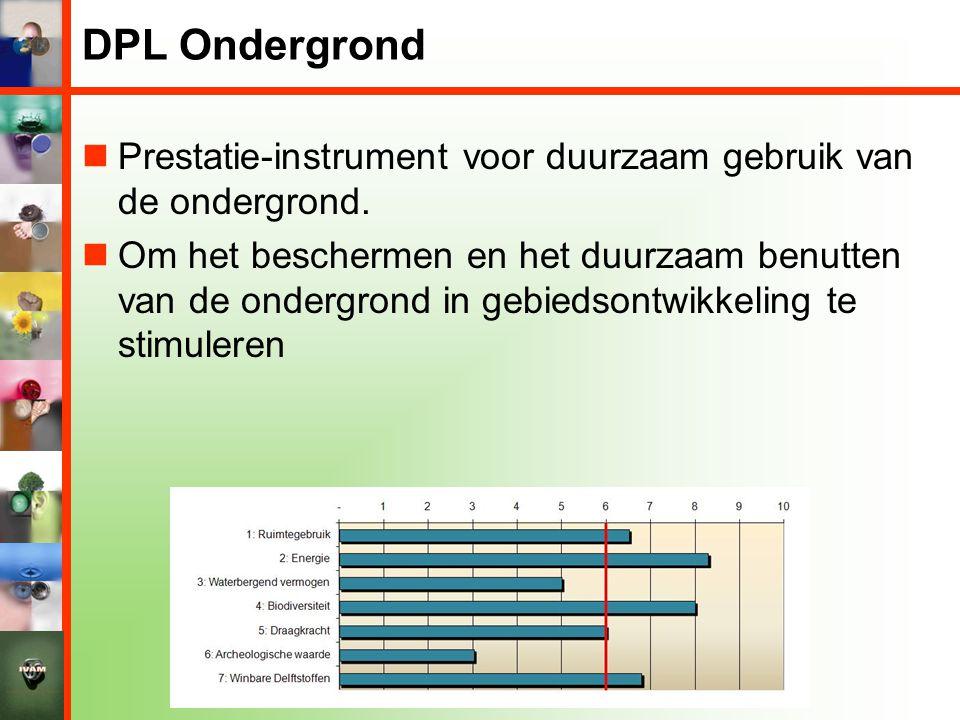 DPL Ondergrond Prestatie-instrument voor duurzaam gebruik van de ondergrond.