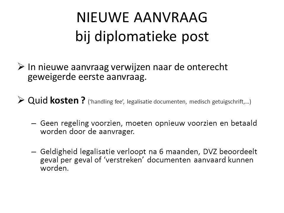 NIEUWE AANVRAAG bij diplomatieke post