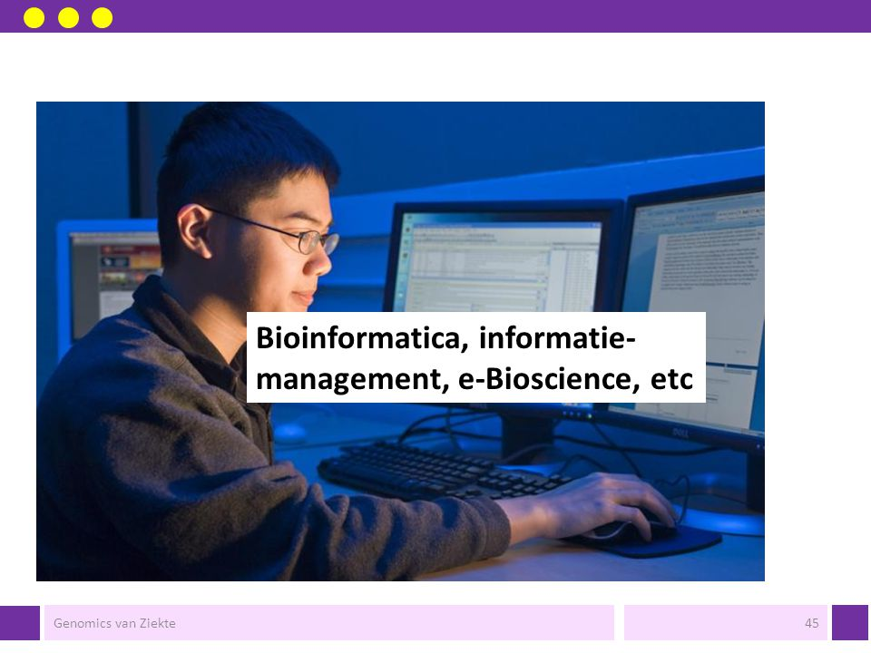 Bioinformatica, informatie- management, e-Bioscience, etc