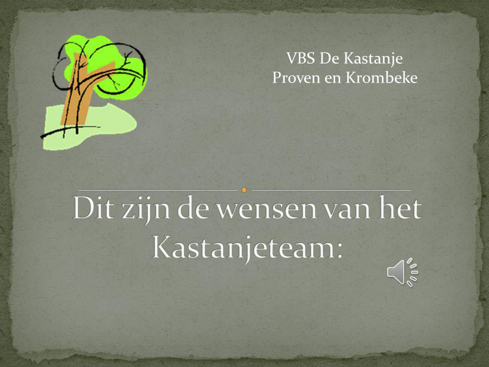 Dit zijn de wensen van het Kastanjeteam:
