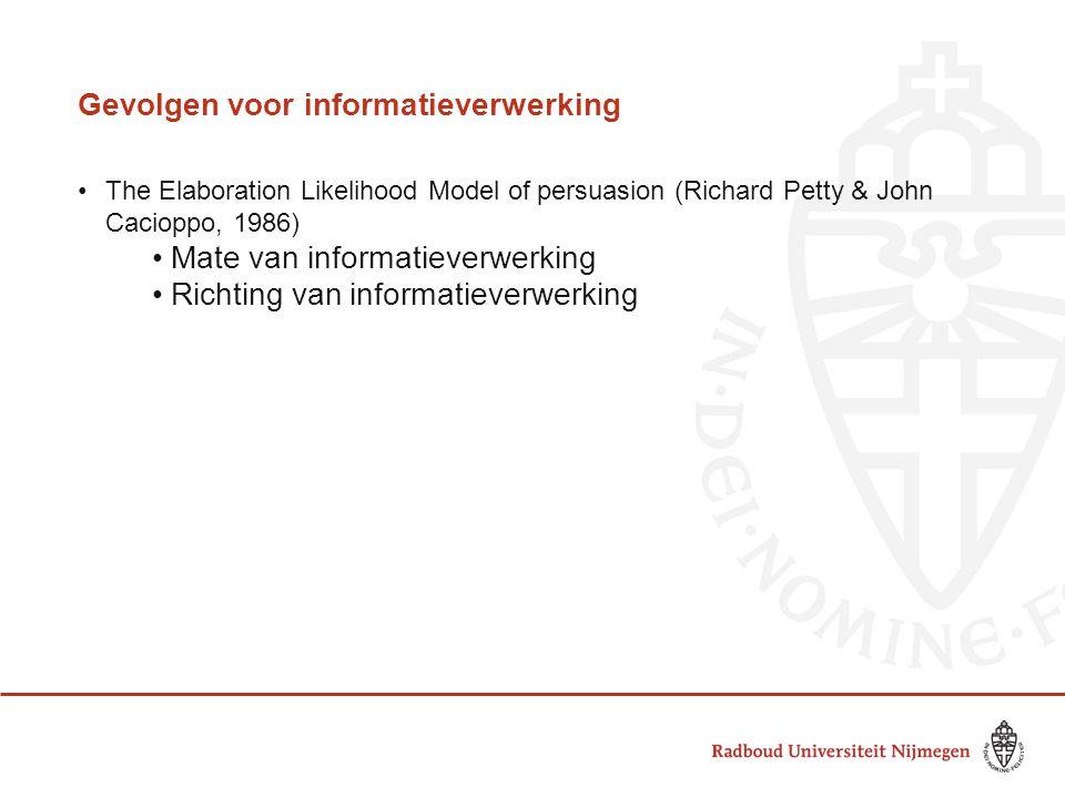 Gevolgen voor informatieverwerking