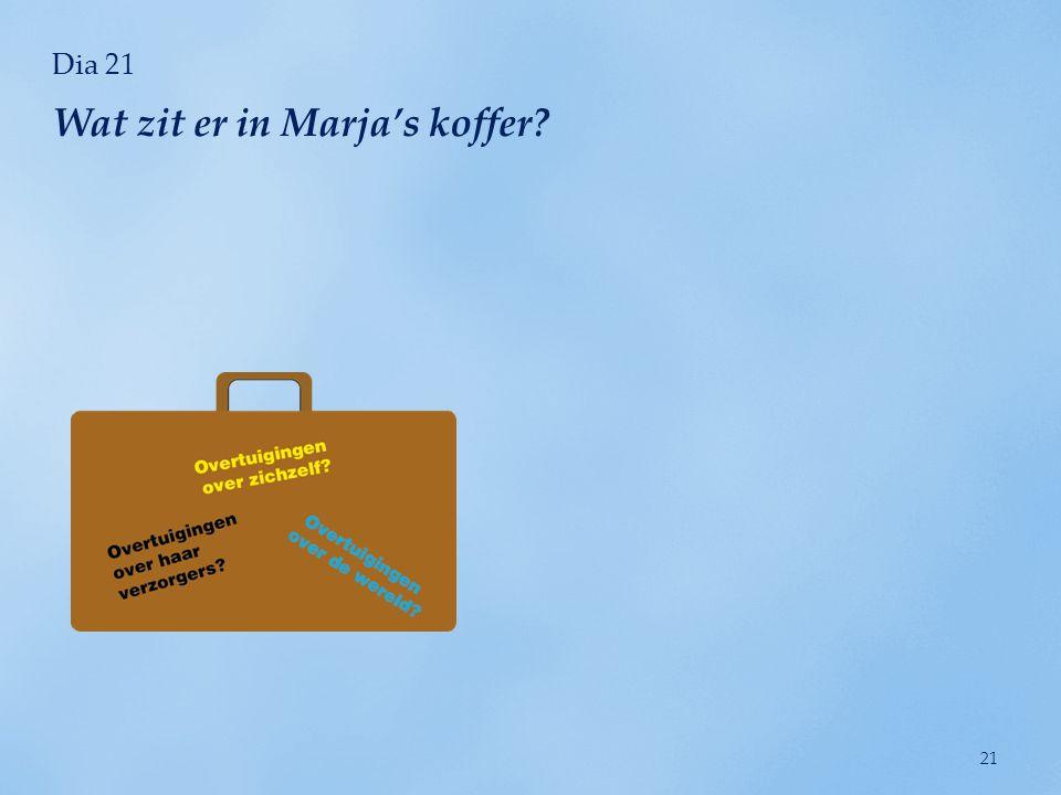 Wat zit er in Marja's koffer