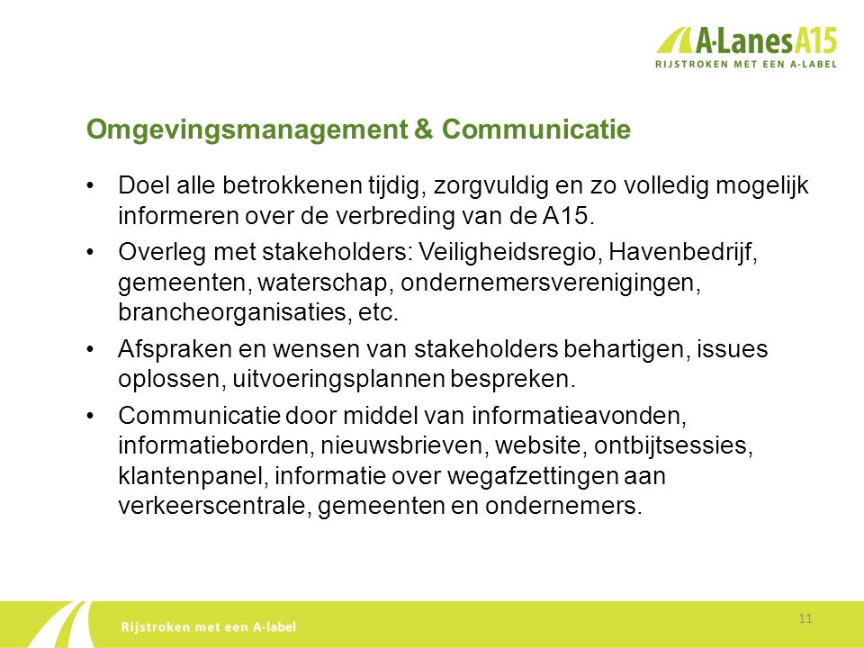 Omgevingsmanagement & Communicatie