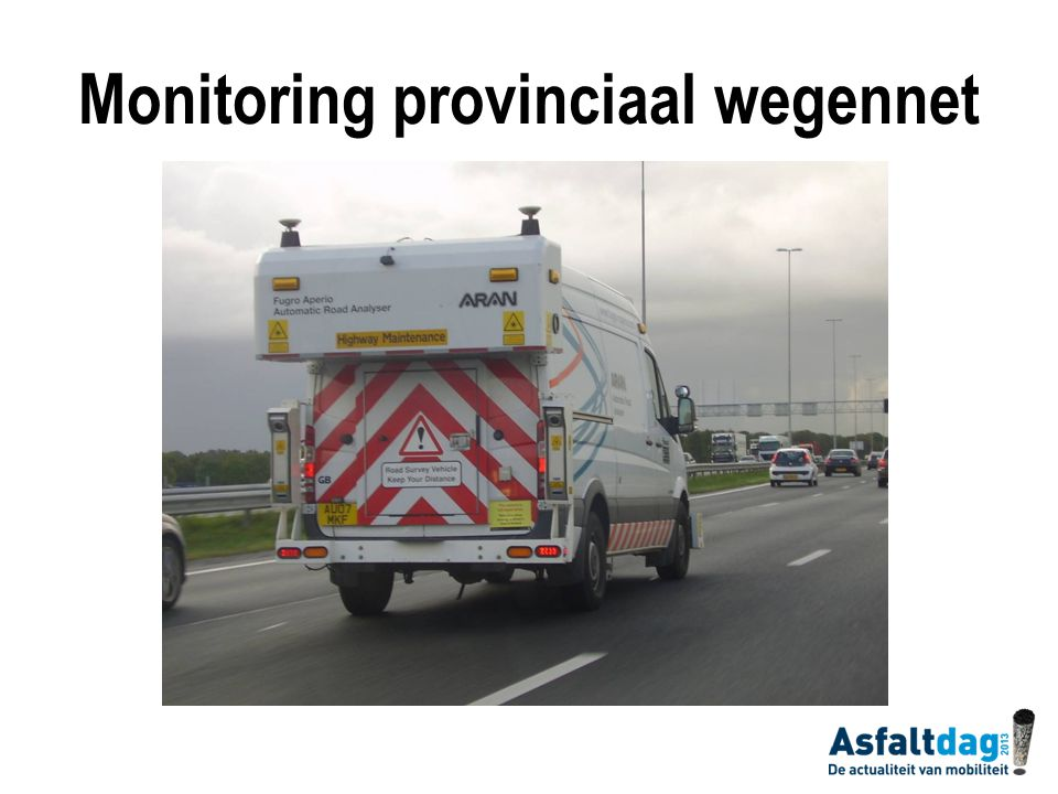 Monitoring provinciaal wegennet