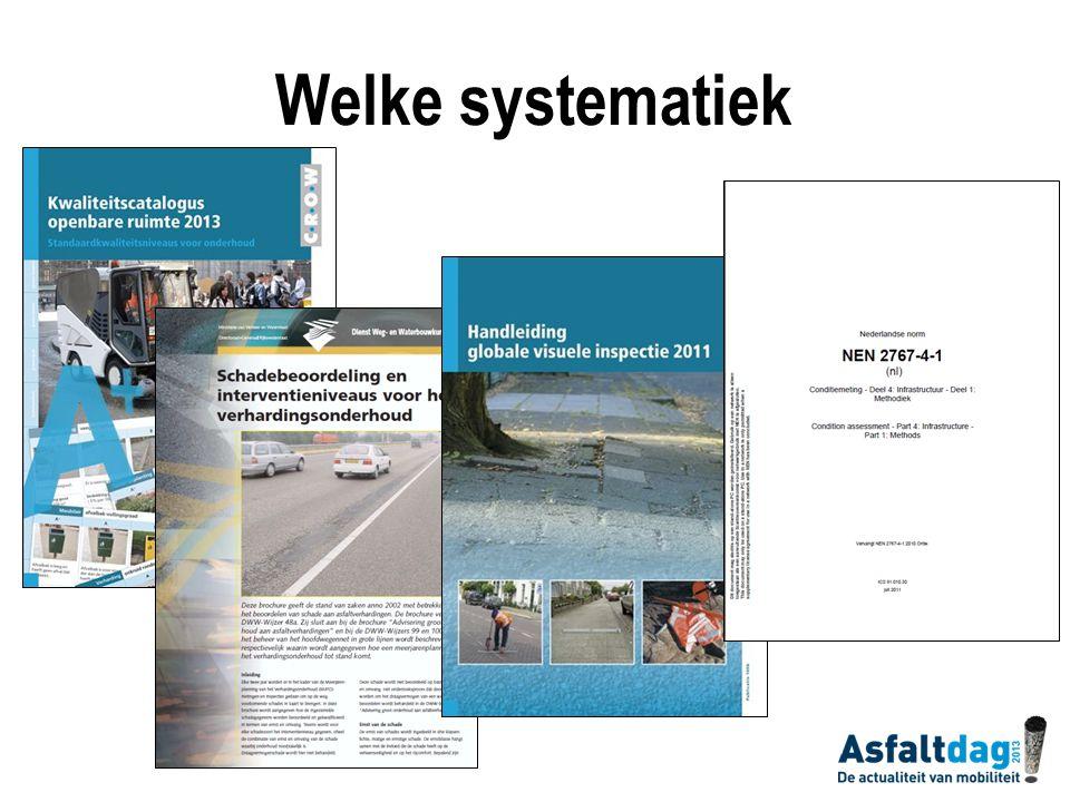 Welke systematiek Tegenwoordig zijn er landelijk diverse systematieken om rafeling te classificeren. Dus ook keuze maken volgens welke systematiek.