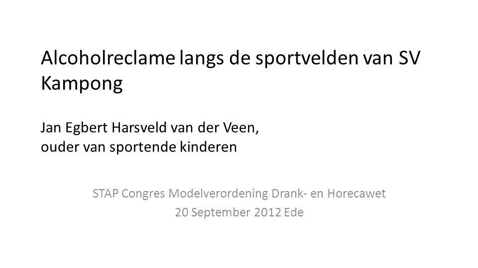 STAP Congres Modelverordening Drank- en Horecawet