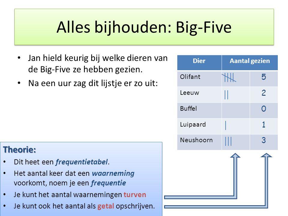 Alles bijhouden: Big-Five