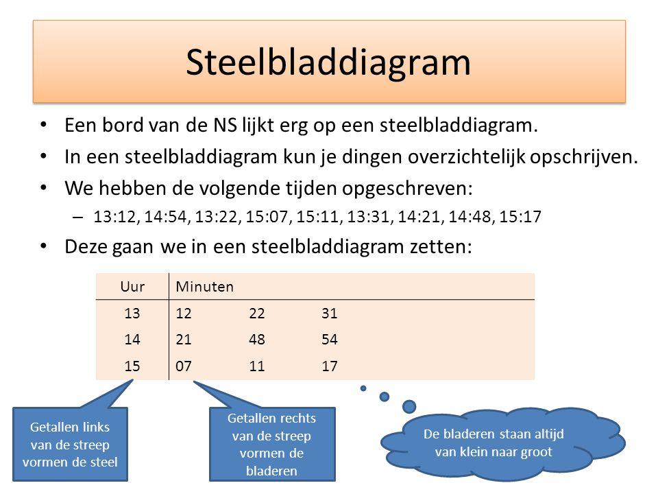 Steelbladdiagram Een bord van de NS lijkt erg op een steelbladdiagram.