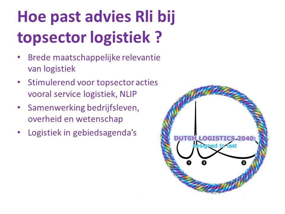 Hoe past advies Rli bij topsector logistiek