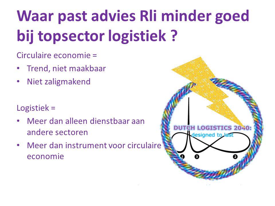 Waar past advies Rli minder goed bij topsector logistiek