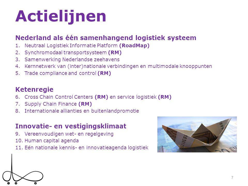 Actielijnen Nederland als één samenhangend logistiek systeem