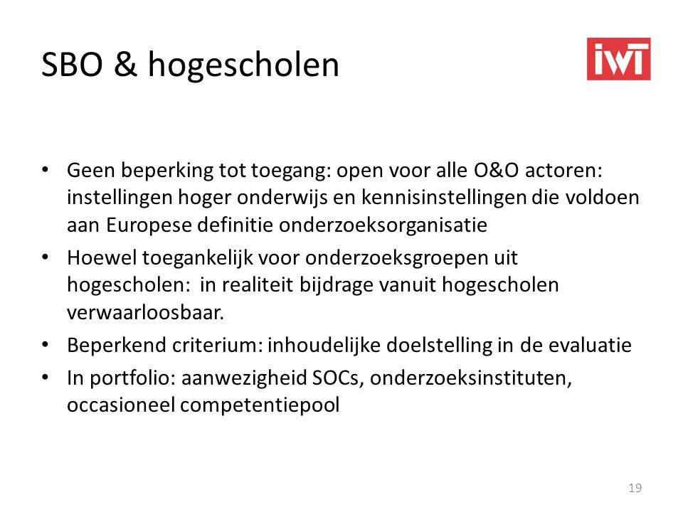SBO & hogescholen