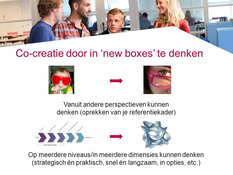 Co-creatie door in 'new boxes' te denken