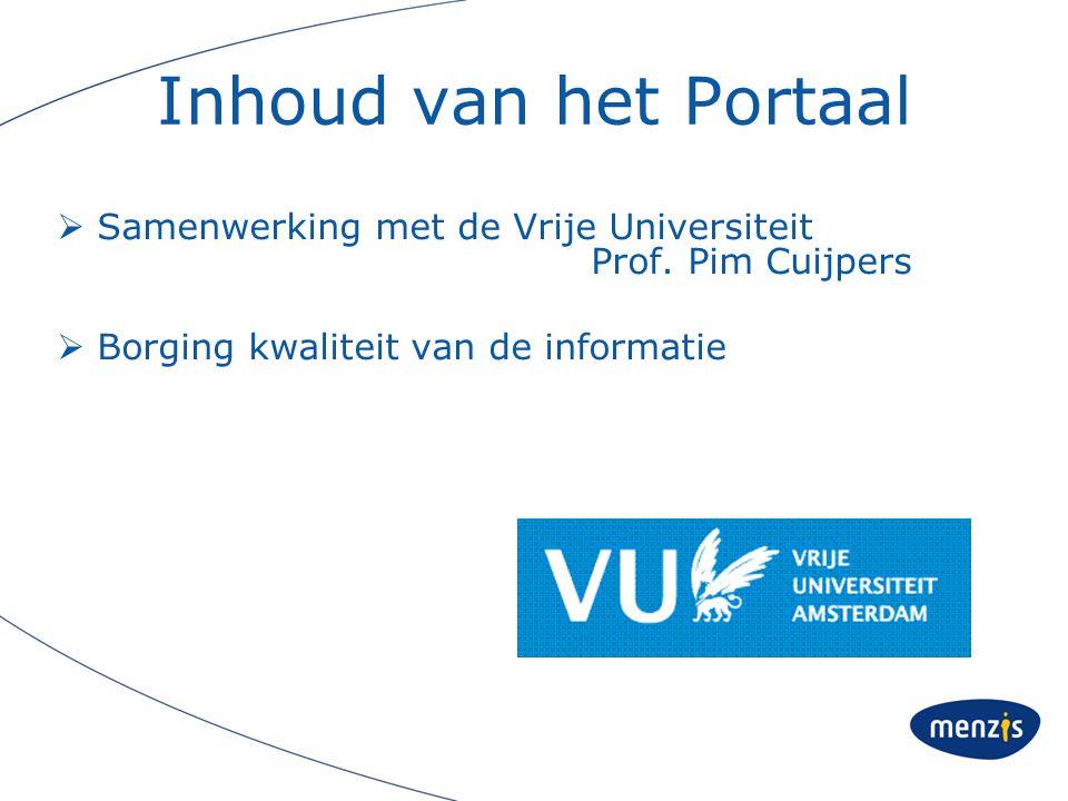 Inhoud van het Portaal Samenwerking met de Vrije Universiteit Prof.