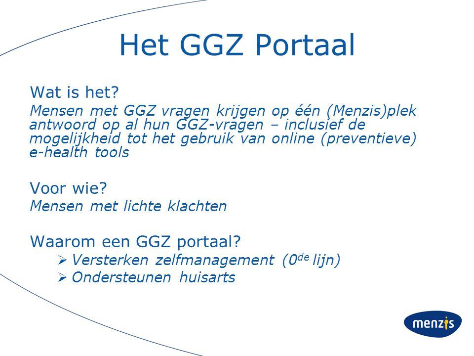Het GGZ Portaal Wat is het Voor wie Waarom een GGZ portaal