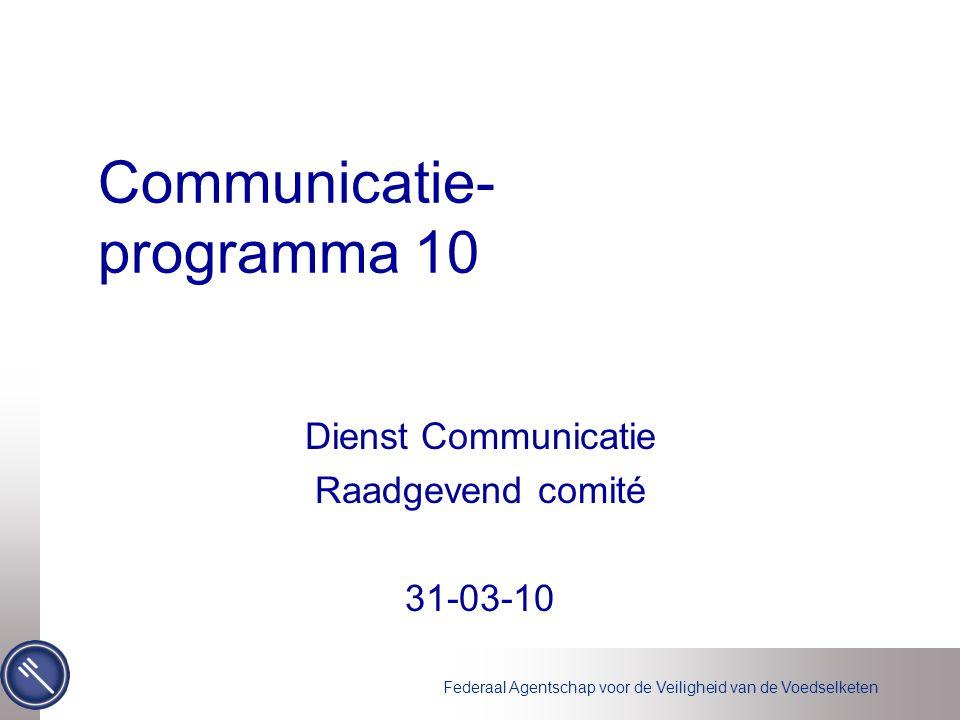 Communicatie- programma 10